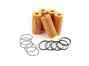 ES#514210 - 06E115562A - Oil Filter Kit - Pack Of 5 - Stock up for future maintenance and save! - Genuine Volkswagen Audi - Audi