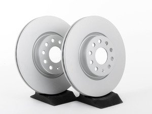 ES#2855659 - 1K0615301AKT - Front Brake Rotors - Pair (312x25)  - Restore the stopping power in your vehicle with these Geomet coated rotors. - Optimal - Audi Volkswagen