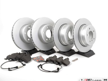 ES#2996985 - 34356789494KT - Front And Rear Brake Service Kit - Featuring Meyle coated rotors and Brembo pads - Assembled By ECS - BMW