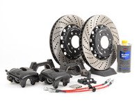 ES#2842149 - 001121ecs02KT1 - Front CSL Big Brake Kit (345x28) - Upgrade to ECS 2-piece E46 M3 CSL rotors for increased brake torque and thermal capacity. Includes brand new calipers; add your preference of brake pad for a complete upgrade. - ECS - BMW