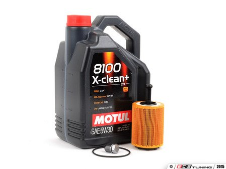 ES#2738453 - 3374650018812kt - Premium Oil Service Kit  - Service your TDI with premium 8100 X-Clean+ synthetic oil - Assembled By ECS - Audi