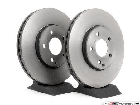ES#2695947 - 2114211212KT6 -    Front Brake Rotors - Pair - Does not include new rotor securing screws - Brembo - Mercedes Benz