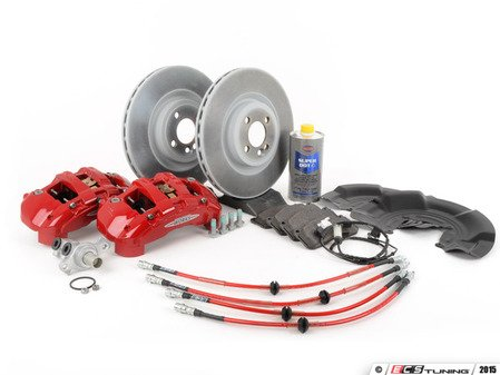 ES#2857524 - 34106858069KT4 - Front MINI JCW GP2 Big Brake Kit - Retrofit big brake kit for JCW brakes (2007+) or factory JCWs (2009+) with ECS Exact-Fit Brake Lines. - Assembled By ECS - MINI