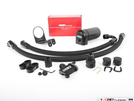 ES#2959979 - 006235ecs01-01KT -  ECS Tuning TSI Baffled Oil Catch Can System - 8oz Can - Keep your intake tract clean and oil free, with our ECS Baffled Oil Catch Can System - ECS - Volkswagen