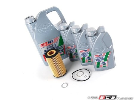 ES#1892015 - 4M0V83KOILKT-1 - ECS Oil Service Kit  - 5w-40 Engine Oil - Everything you need to perform a oil change service on you Audi or V/W - Assembled By ECS -
