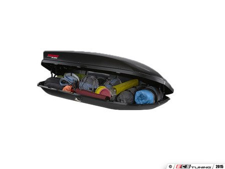 ES#2919318 - 8007336 - SkyBox 18 Carbonite - Featuring a sleek black, dimpled textured lid - Yakima - Audi BMW Volkswagen Mercedes Benz MINI Porsche