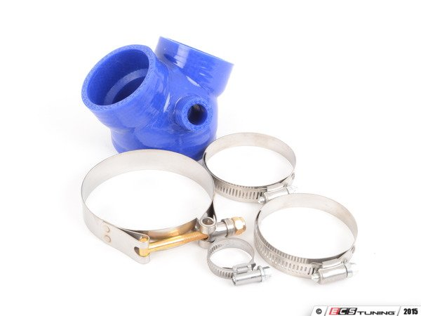 "ES#2954075 - 034-112-6007BLUE - Silicone Throttle Body Boot - Blue - Replaces the troublesome and weak ""Y"" boot - Includes clamps - 034Motorsport - Audi"