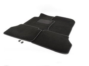 ES#1827545 - Q6680184 - Carpeted Floor Mat Set - Black - Genuine Mercedes Benz - Mercedes Benz