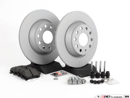 ES#2597860 - 1K0615601AD - Rear Brake Service Kit (282x12) - Featuring Zimmermann rotors and Vaico pads - Assembled By ECS - Volkswagen