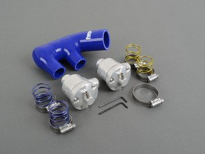 ES#2550543 - FMDV996PB - Piston Style Recirculation Valves - Pair - Beautiful polished aluminum valves with blue silicone hose included - Forge - Porsche