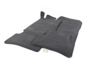ES#1820805 - 66293411 - Carpeted Floor Mat Set - Anthracite - Genuine Mercedes Benz - Mercedes Benz