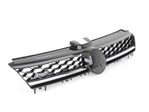 ES#2794985 - 009510BRP05 - GTI Lighting Package Grille - With Chrome Strip - Gloss black honeycomb with chrome strip and badge holders - Bremmen Parts - Volkswagen