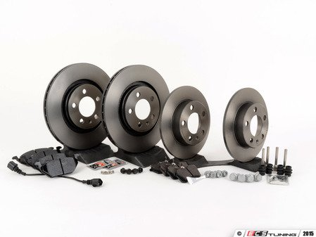 ES#2763811 - 1J0698026kt -  Front & Rear Brake Service Kit (280x22/232x9) - Featuring Brembo rotors with Hawk HPS pads - Assembled By ECS - Volkswagen