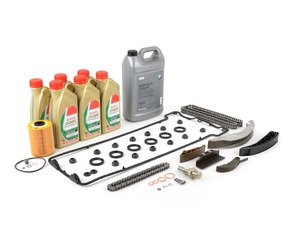 ES#2828680 - 11411401399KT - Timing chain kit  - Everything you need to get the job done, including coolant, oil and filter - Assembled By ECS - BMW