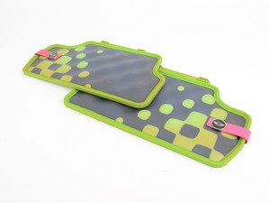 ES#2714927 - 51472354165 - Rear Rubber Factory Floor Mats Set Vivid Green - Priced As Set  - Replace or upgrade to factory MINI mats - Genuine MINI - MINI