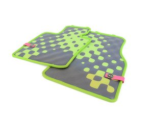 ES#2714943 - 51472354158 - Front Rubber Factory Floor Mats Set Vivid Green - Priced As Set - Replace or upgrade to factory MINI mats - Genuine MINI - MINI
