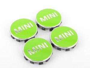 ES#2715132 - 36132354150 - MINI Wheel Center Cap Green - Set of Four - Apple green color center caps to add some style - Genuine MINI - MINI