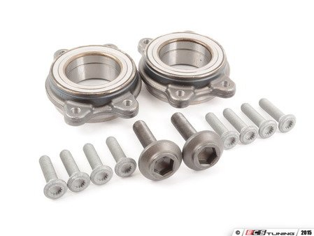 ES#2919282 - 4H0498625Akt3 - Wheel Bearing Kit - Pair - Includes both bearings with axle & securing bolts - Febi - Audi