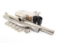 ES#2864901 - SSXM410 - Cat-Back Exhaust System - Non-Resonated Twin GT90 - 2.75 stainless steel with Twin Round Cerakote Black Tips - Milltek Sport - MINI