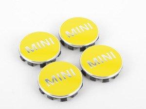 ES#2715083 - 36132354151 - MINI Wheel Center Cap Yellow - Set Of Four - Bright Yellow color center caps to add some style - Genuine MINI - MINI