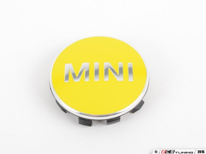 Genuine Mini 36132354151 Mini Wheel Center Cap Yellow