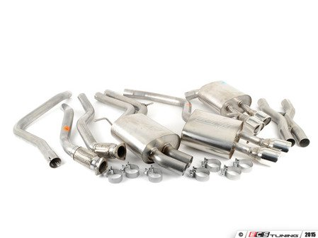 "ES#3107059 - 140403 - Performance Cat-Back Exhaust System - 2.5"" stainless steel with quad 3.5"" polished stainless tips - Borla - Audi"