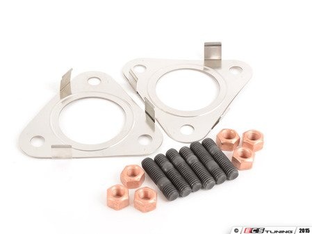ES#2575425 - 3D0253115EKT1 - Downpipe Hardware Kit - Contains all of the hardware you need to install a new downpipe on your A3 - Assembled By ECS - Audi