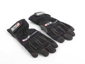 ES#2863430 - 012845ECS01A - Black Mechanics Work Gloves - Medium  - Protection for your hands while you work. No more scrapes and cuts. - Schwaben for ECS - Audi BMW Volkswagen Mercedes Benz MINI Porsche