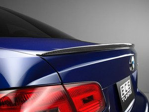 ES#2776809 - 008008ECS06A - Performance Carbon Fiber Rear Spoiler - High quality clear-coated carbon fiber with a low profile design for a subtle look. - ECS - BMW
