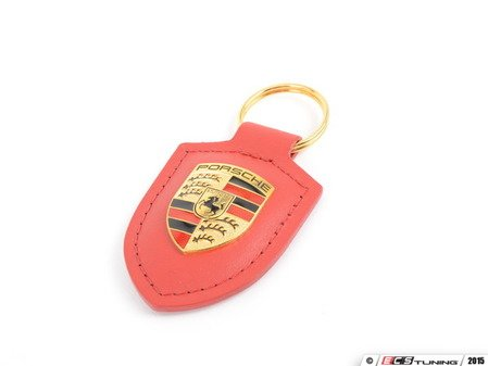 ES#2748396 - WAP0500920E -  Red Crested Key Fob - Key ring to organize all of your keys, while showing Zuffenhausen pride - Genuine Porsche - Porsche