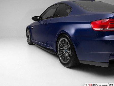 ES#2952281 - 012499ecs08a - Carbon Fiber Side Skirt Extensions - Set your M3 apart and make a lasting impression - ECS - BMW