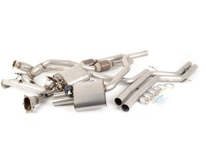 """ES#2827496 - SSXAU379 - Turbo-Back Exhaust system - Valvesonic Non-Resonated - (NO LONGER AVAILABLE) - 2.75"""" stainless steel, Hi-Flow sports cats, and retains stock exhaust tips - Milltek Sport -"""