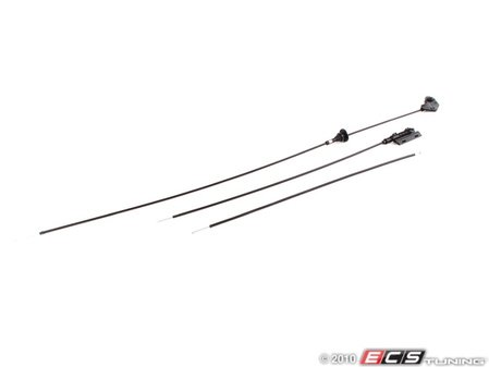 ES#258453 - E395123 - Hood Release Cable Kit - Includes all of the hood release cables - Genuine BMW - BMW