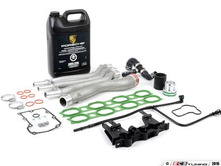 ES#2771560 - 94810605906KT5 - Cayenne Turbo Coolant Pipe Upgrade/Repair Kit - Everything you need to replace cracked or leaking coolant pipes - Assembled By ECS - Porsche