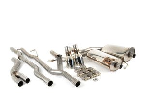 "ES#2917844 - SSXAU516 - Cat-Back Exhaust System - Non-Resonated - 2.5"" stainless steel with dual GT 100mm polished tips - Milltek Sport - Audi"