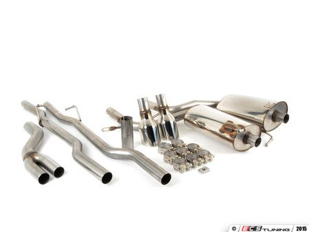 """ES#2917844 - SSXAU516 - Cat-Back Exhaust System - Non-Resonated - 2.5"""" stainless steel with dual GT 100mm polished tips - Milltek Sport - Audi"""