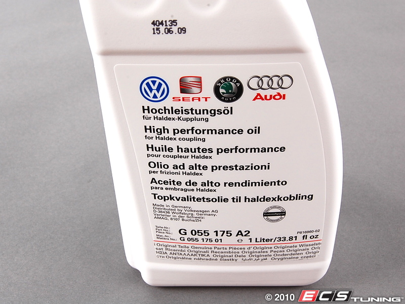 Genuine Volkswagen Audi G055175a2 High Performance Oil