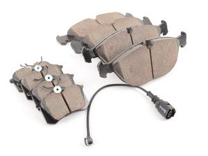 ES#2763610 - EUR682KT - Front & Rear Euro Ceramic Brake Pad Kit - Restore your stopping power with this complete pad kit for all four corners! - Akebono - Audi