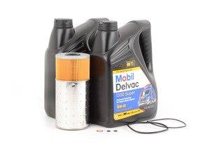 ES#2748881 - 0001802509KT - W123 & W126 Diesel Oil Change Kit 15w-40 - Everything you need to perform an engine oil service - Genuine Mercedes Benz - Mercedes Benz