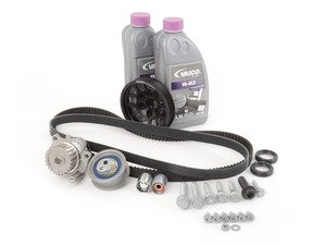 ES#1884412 - 06F198001WPHB - Ultimate Plus Timing Belt Kit - Black Pulley - Same as an Ultimate Timing Belt kit plus our black ECS Quick Spool Underdrive Pulley - Assembled By ECS - Audi Volkswagen