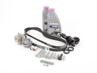 ES#2954061 - 06D109119BKT2 -  Ultimate Plus Timing Belt Kit - with thermostat - Includes coolant, all necessary hardware, engine seals, motor mount bolts, and thermostat - Assembled By ECS - Audi Volkswagen