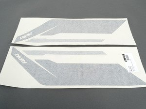 ES#2959984 - PM100334 - APR Sideburn Sticker - Black/Silver - Set of 2 APR side fender decals - APR - Audi Volkswagen