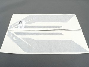 ES#2959987 - PM100335 - APR Sideburn Sticker - Silver/Black - Set of 2 APR side fender decals - APR - Audi Volkswagen