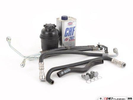 ES#2960847 - 32412283893KT1 - Comprehensive Power Steering Hose Kit - Includes new hoses, banjo bolts, fluid, reservoir and sealing washers - Assembled By ECS - BMW