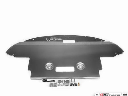 ES#2864870 - 003252ECS02AKT4 - Street Shield Aluminum Skid Plate Kit  - Protect your vehicle's oil pan and undercarriage components with our heavy duty aluminum skid plate - ECS - Audi
