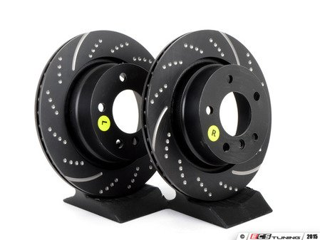 ES#521963 - GD7196 - Rear Sport Rotor Kit - Pair (294x19) - Upgrade to a dimpled and slotted rotor for improved braking - EBC - BMW