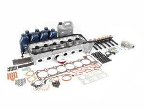 ES#2918774 - 11121703637-2KT - Complete Cylinder Head Ultimate Replacement Kit - Everything you will need to do a head service on your BMW, plus a new thermostat, thermostat housing, a magnetic drain plug, a camshaft position sensor, spark plugs, and ignition coils - Assembled By ECS - BMW