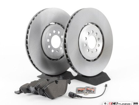 ES#2763754 - 8N0615302BKT - Front Brake Service Kit - Featuring genuine Audi rotors and Meyle pads - Assembled By ECS - Audi