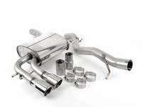 """ES#2828101 - SSXVW046 - Cat-Back Exhaust System - Non-Resonated - 2.75"""" stainless steel with twin 76.2mm polished tips - Milltek Sport - Audi"""