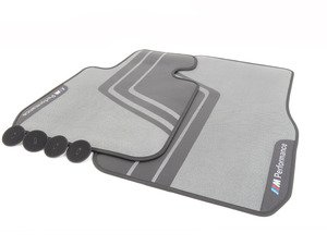ES#2817881 - 51472407303 - M Performance Carpeted Floor Mats - Front - Textile floor mats with M Performance logo - Genuine BMW M Performance - BMW